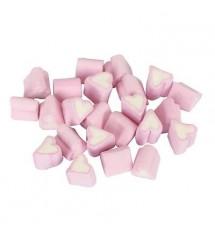 Pink & White Mini Heart Mallows 1kg